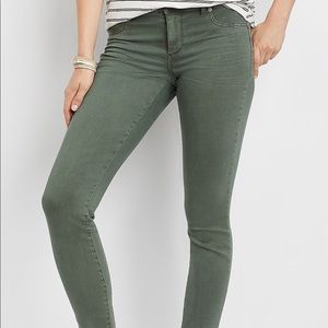 Maurice's olive color jeggings